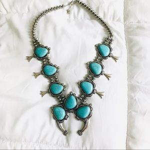 Jewelry - Turquoise (not real) Squash Blossom Necklace